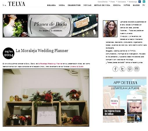"La Moraleja Wedding Planners en ""Planes de Boda"" de Telva"