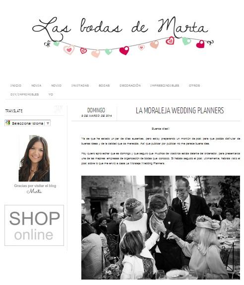 "La Moraleja Wedding Planners en ""Las Bodas de Marta"""