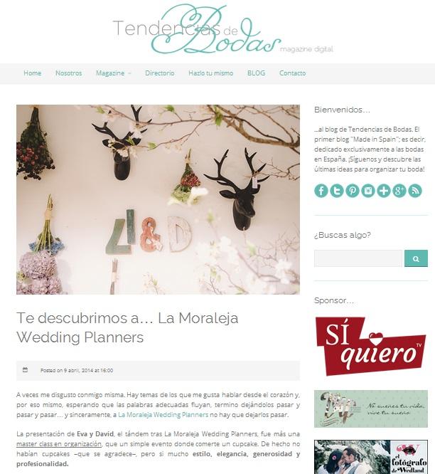 Tendencias de Bodas descubre a sus lectores a La Moraleja Wedding Planners…