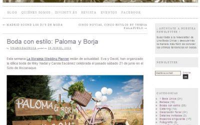 La Boda de Paloma y Borja en el Blog «Una Boda Única»